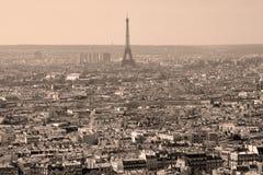 Взгляд глаза птицы Парижа Стоковые Фотографии RF