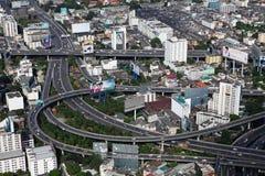 Взгляд глаза птицы шоссе в Бангкоке Стоковое Фото