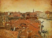 Взгляд глаза птиц Венеции панорамный Стоковая Фотография RF