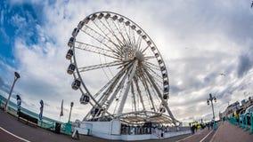 Взгляд глаза рыб иконического колеса Брайтона Стоковое Фото