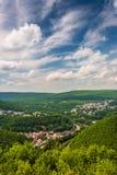 Взгляд Джима Thorpe от горы Флагстафф, Пенсильвании Стоковое фото RF