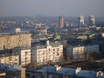 Взгляд Донецк от высоты Стоковые Изображения RF