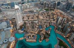Взгляд Дубай от Burj Khalifa стоковая фотография