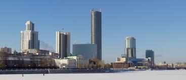 Взгляд Екатеринбурга панорамный Стоковое Фото