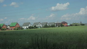 Взгляд деревни в движении сток-видео