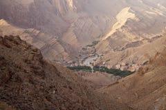 Взгляд деревни в ущельях Todra Стоковая Фотография