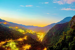 Взгляд деревни горячего источника Wulai Стоковые Фотографии RF