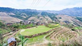 взгляд деревни и пика Будды точки зрения Стоковая Фотография RF