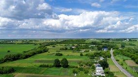 Взгляд деревни центральной России сверху стоковое изображение rf