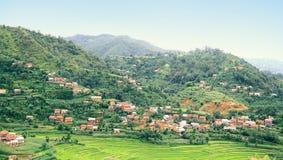 Взгляд деревни Balthali широкий стоковые изображения rf