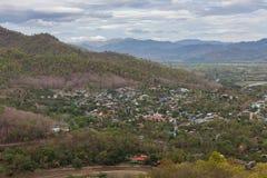 Взгляд деревни Thaton сверху Стоковая Фотография RF