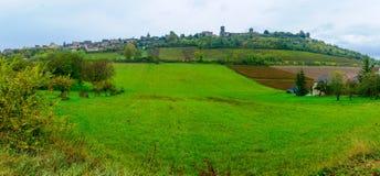 Взгляд деревни Vezelay Стоковое Изображение RF