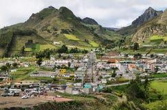 Взгляд деревни Zumbahua Стоковая Фотография RF