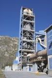 Взгляд детали фабрики цемента Стоковые Изображения RF