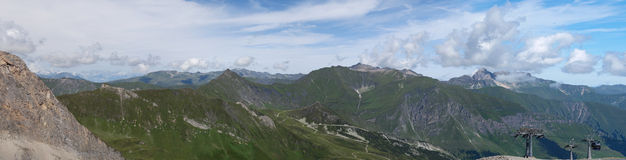 Взгляд лета от верхней части Hintertux Стоковое фото RF