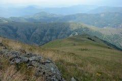 Взгляд лета от горного пика Стоковое Изображение RF
