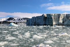 Взгляд ледовитого ландшафта Стоковое Изображение RF