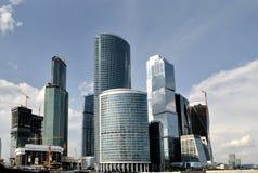 Взгляд делового центра города Москвы стоковое изображение rf