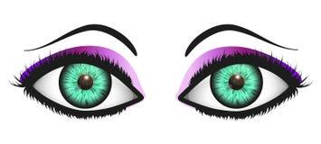 Взгляд женщины (зеленый цвет) Стоковое Фото