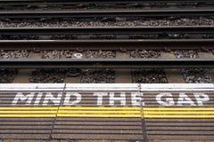 Взгляд железной дороги. Запомните зазор. стоковая фотография rf