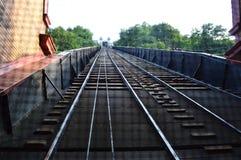 Взгляд железнодорожного пути уклона Duquesne - Питтсбург стоковая фотография rf