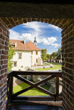 Взгляд замка варницы от башни Стоковое фото RF