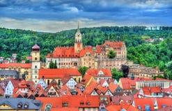 Взгляд замка в Бадене-Wurttemberg, Германии Sigmaringen стоковые фотографии rf