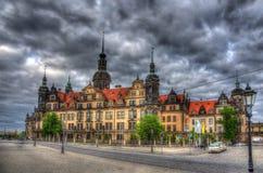 Взгляд замка Дрездена - Германии стоковая фотография rf