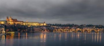 Взгляд замка Праги Стоковая Фотография