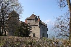 Взгляд замка Chillon Стоковое Изображение