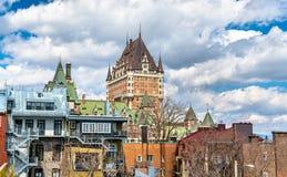 Взгляд замка Frontenac в Квебеке (город), Канаде Стоковое Изображение
