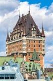 Взгляд замка Frontenac в Квебеке (город), Канаде Стоковые Изображения RF