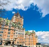 Взгляд замка Frontenac в Квебеке (город), Канаде Стоковые Изображения