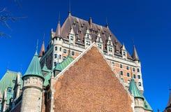 Взгляд замка Frontenac в Квебеке (город), Канаде Стоковые Фото