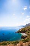 Взгляд заповедника Zingaro, Сицилии Стоковая Фотография