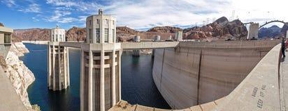 Взгляд запруды Hoover в Неваде, США стоковое изображение rf