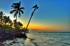 Взгляд захода солнца Атлантического океана стоковые изображения rf