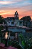 Взгляд захода солнца в Santa Clara Стоковое Изображение RF