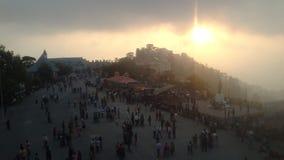 Взгляд захода солнца города Simla Стоковое Изображение RF