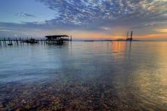 Взгляд захода солнца и восхода солнца Стоковое Изображение