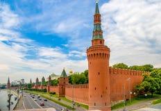 Взгляд захода солнца Кремля в Москве, России Стоковая Фотография