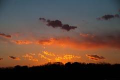 Взгляд захода солнца от деревни немца токио Стоковое Изображение RF