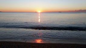 Взгляд захода солнца среднеземноморского видеоматериал