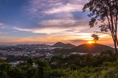 Взгляд захода солнца Стоковое Изображение