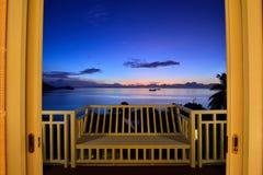 Взгляд захода солнца Стоковое Фото