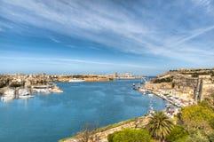 Взгляд залива Валлетты в Мальте стоковые фотографии rf