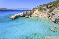 Взгляд залива Крита Греция Стоковая Фотография RF