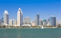 Взгляд залива Сан-Диего и городской стоковая фотография