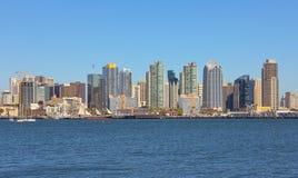 Взгляд залива Сан-Диего и городской стоковые фото