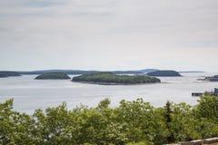 Взгляд залива француза в национальном парке Acadia Стоковое фото RF